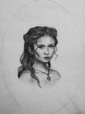 katherine pierce drawing vampire diaries tvd 1864 drawings dairies realistic