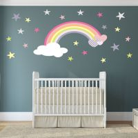 Rainbow Wall Decal girls wall stickers nursery baby room ...