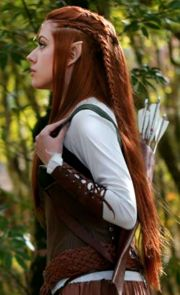 beautiful elven archer hairstyle