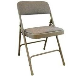 Cloth Padded Folding Chairs Ashley Furniture Dining Room Advantage Beige Chair W 1 In Fabric Seat These
