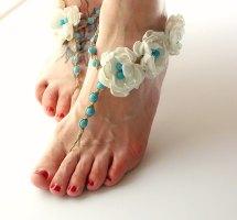 Turquoise Barefoot Sandals Wedding