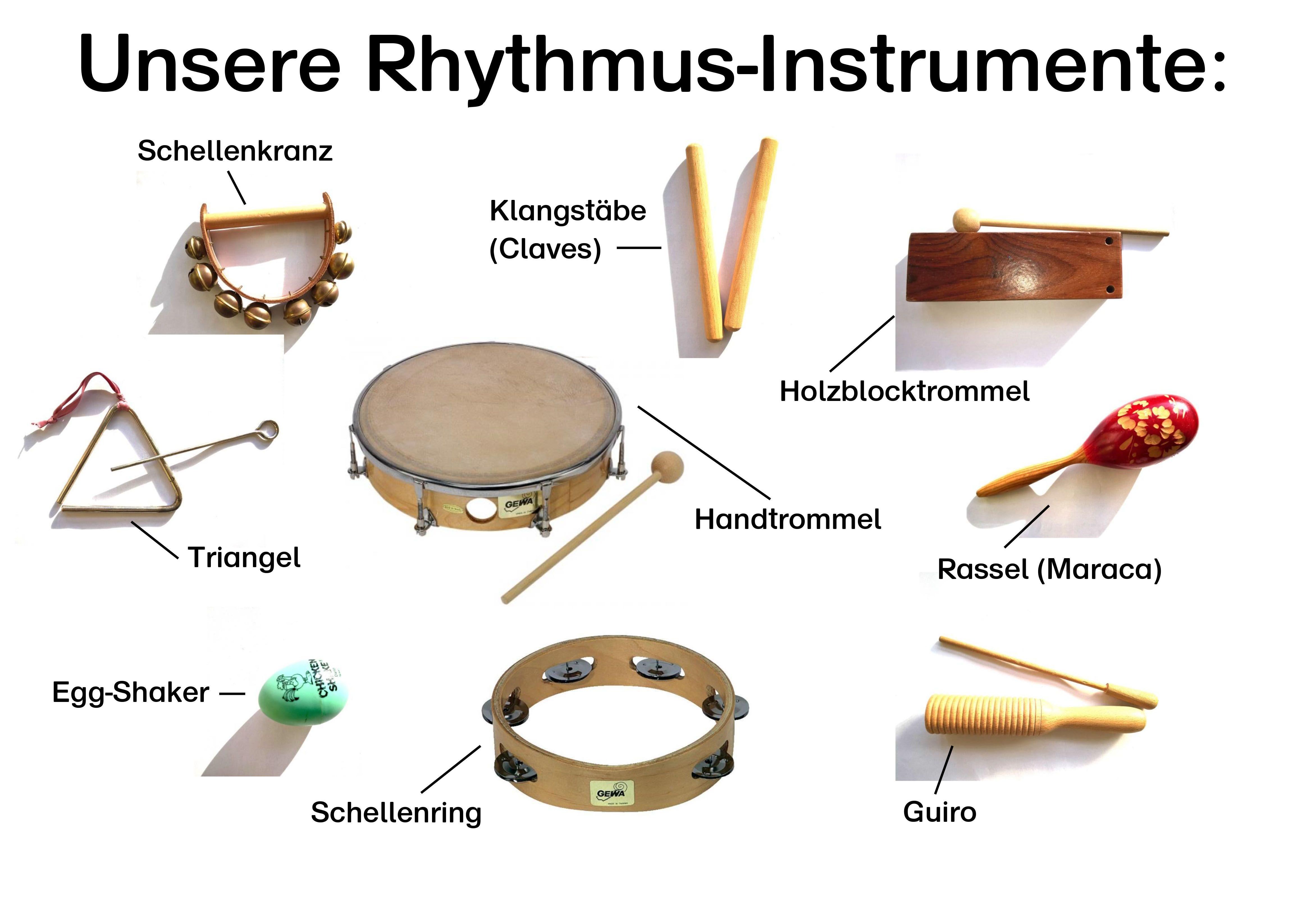 Orff Instrumente Rhythmusinstrumente Plakat