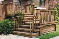 Front Entrance Wooden Steps steep | Porches, Decks, Patios ...