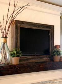 Framing in a Wall Mount Television | Mounted tv, Rustic ...