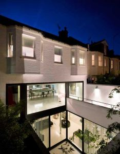From andy martin architects mews is  single residence set in belsize park also mechanics garage turned into bright family via freshome rh pinterest