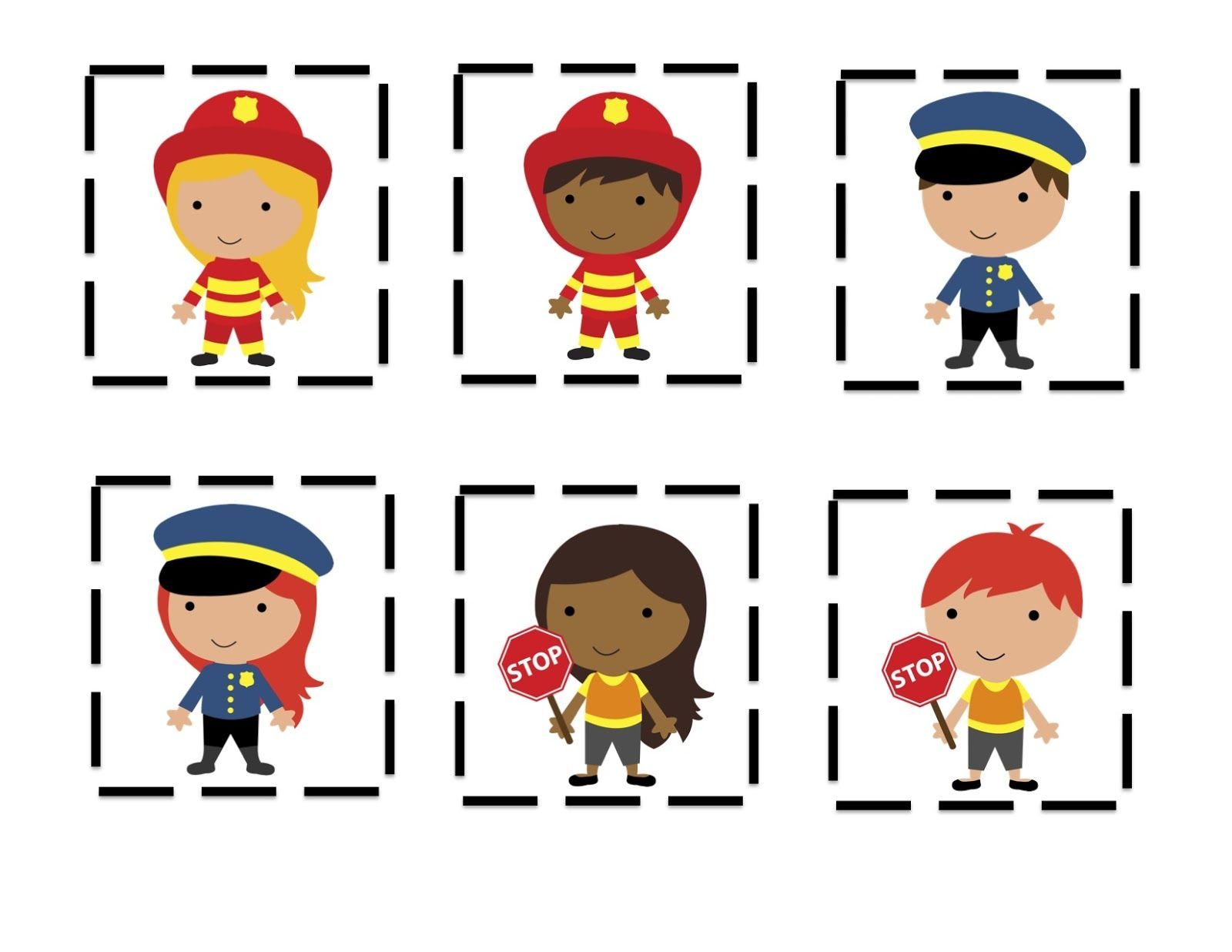 Community Helpers Hats To Color