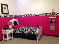 Hot pink zebra room