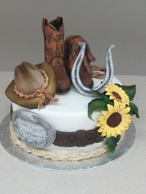 Cowboy Style This Cake Is The Topper For The Cupcake