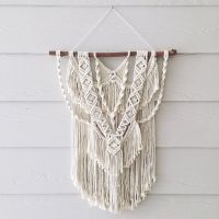 Wild at Heart Medium macrame wall hanging by WovenWhale on