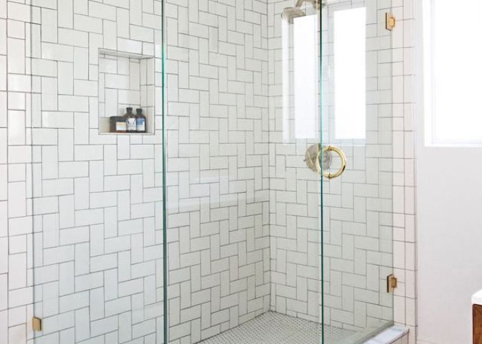 Tile pattern kids bath click here to purchase white  subway glass also
