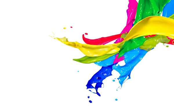 Colorful Art Paint Splashes