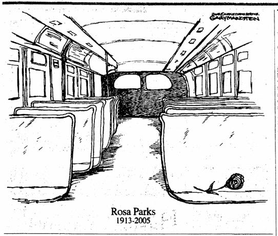A newspaper editorial cartoon honoring the pioneering