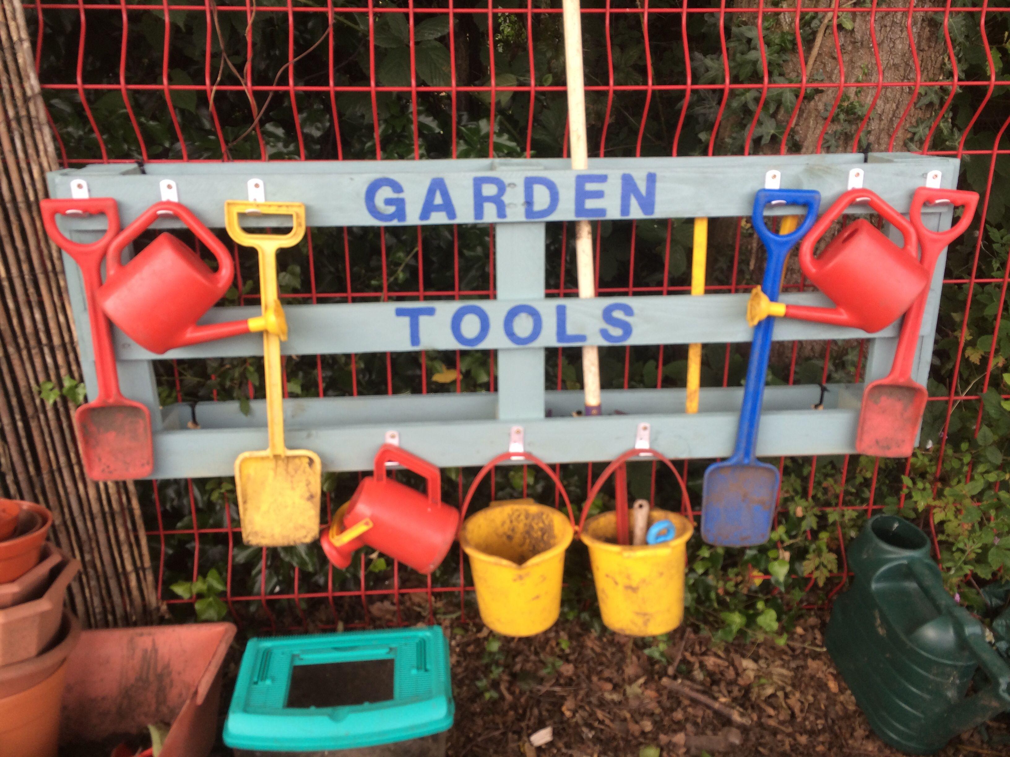 Garden Tool Holder I Made From Pallet