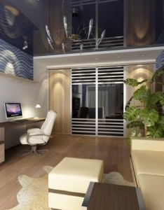 Make comfortable home interior with plants indoor stunning green plant design in cool living room classy blue wallpaper and beige leather sofa also eclectic modern furniture set rh pinterest