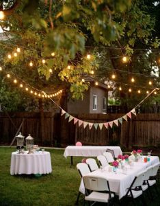 Backyard party ideas for adults lighting also rh in pinterest