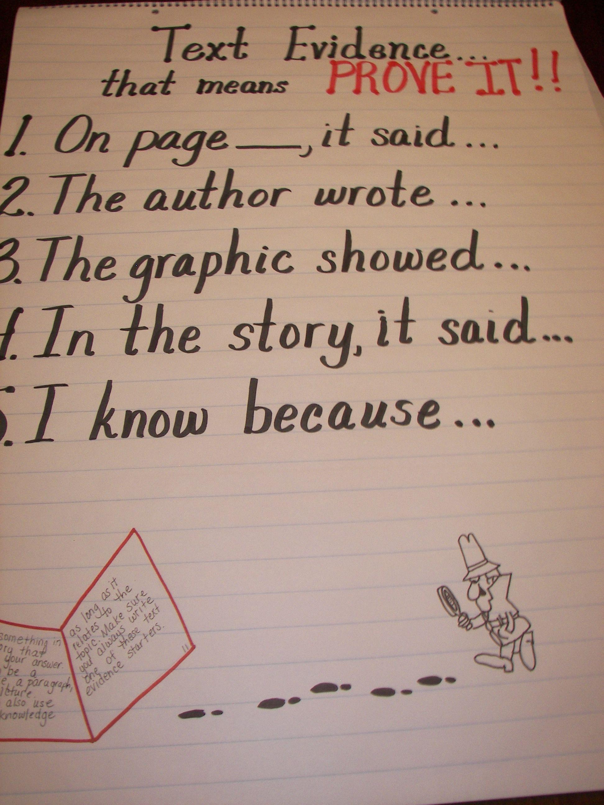 4th Grade Reading Comprehension Textual Evidence
