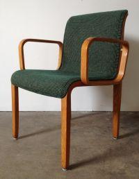Vintage Knoll Bill Stephens Bent Wood Arm Chair c.1973 McM
