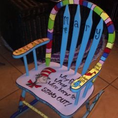 Dr Seuss Chair Used Brookstone Massage Childs Rocking Custom Painted Suess Diy Home