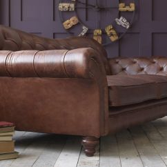 Cheap Brown Leather 2 Seater Sofa Four Seat With Chaise Classic | Pinterest ...