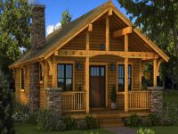 Small Log Cabin Homes Plans, one story cabin plans