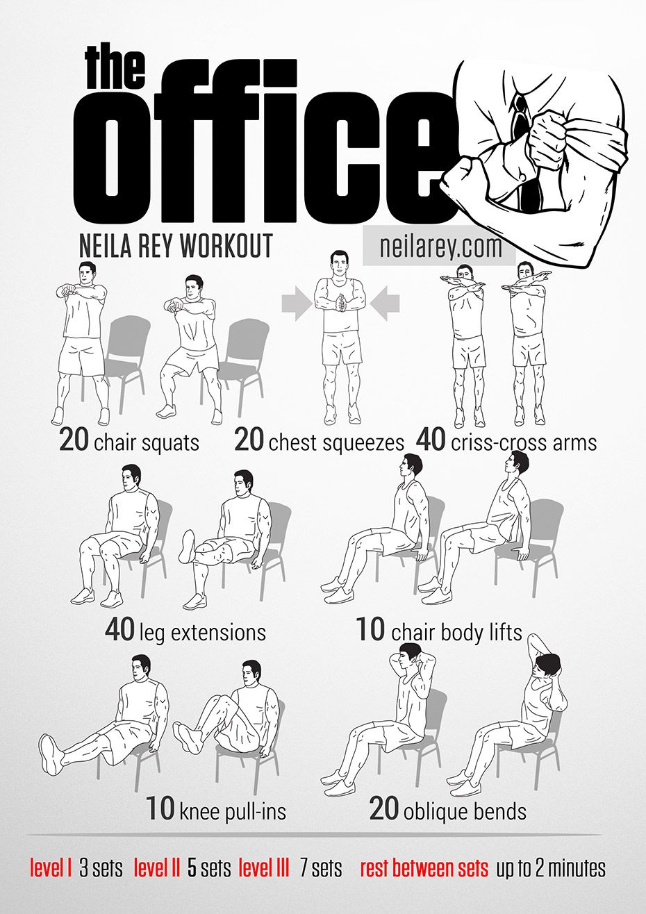 Office Workouts on Pinterest  Desk Exercises Workout At
