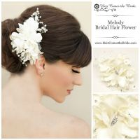 Beaded Ivory Bridal Hair Flower from Hair Comes the Bride ...