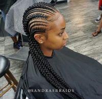 Small and Big Cornrows   Natural Hair Style Braids ...