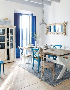 Fresh nautical style dining room decor coastal decorating ideas  beach house pinterest and also rh