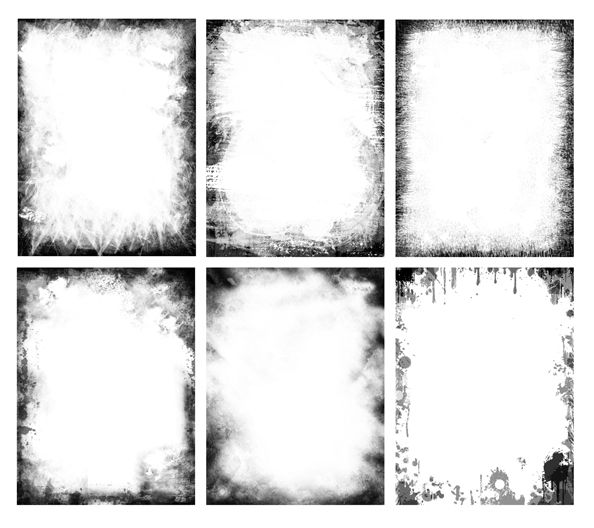 Free grunge frames pack. Useful for various projects like