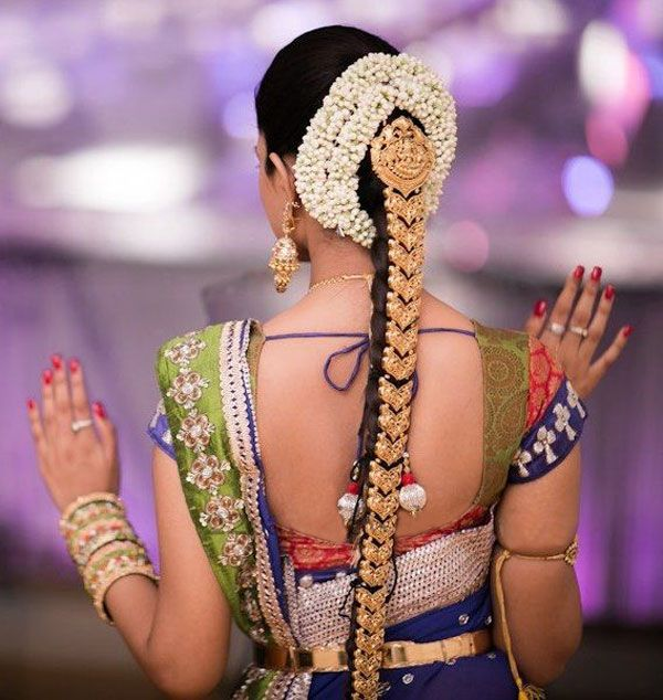 South Indian Bride Hairstyle Google Search Rings Dress And
