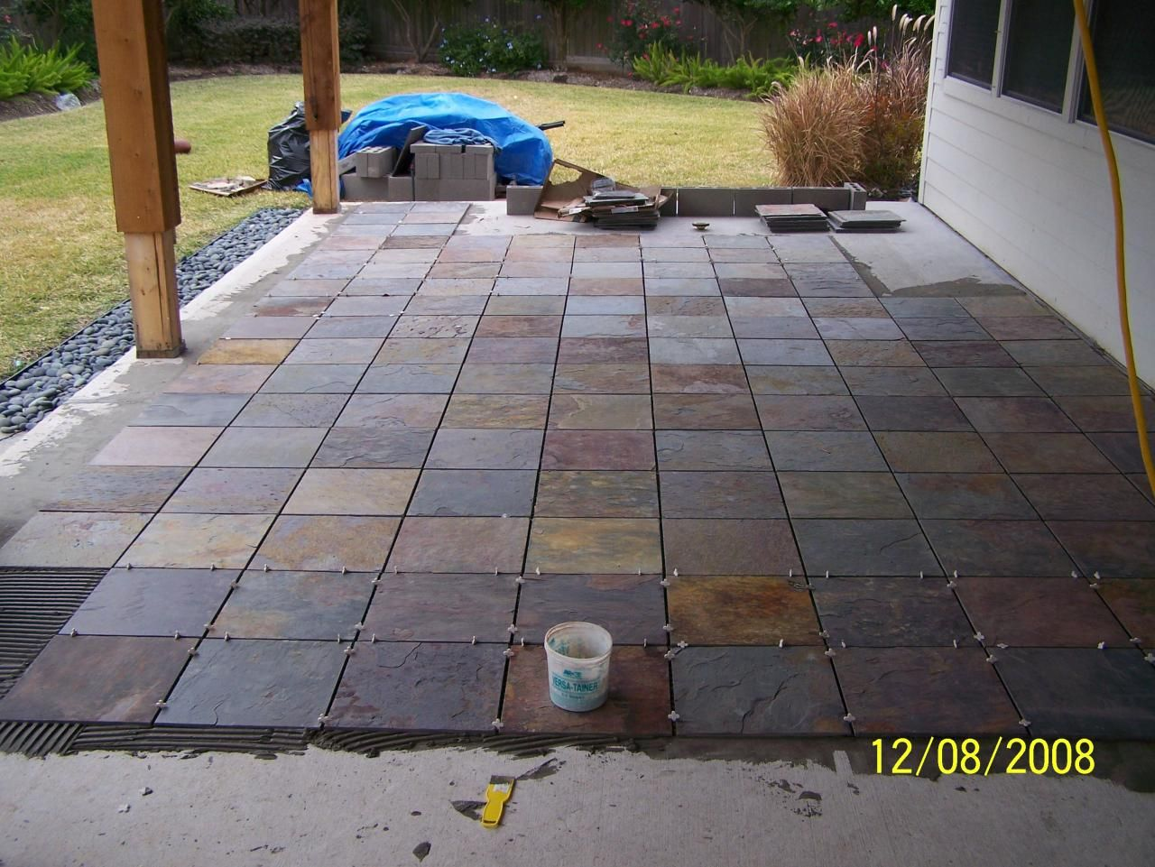 Outdoor Patio Flooring Options   trim paint and new