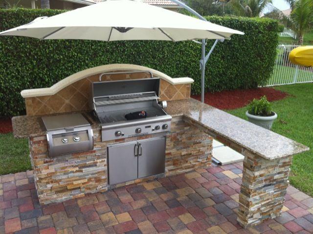 Simple Outdoor Kitchen on Pinterest  Small Outdoor Kitchens Outdoor Kitchen Design and Modern