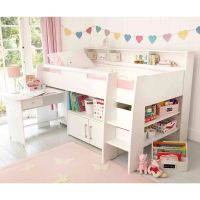 Reece Cabin Bed, White | Childrens cabin beds, Beds for ...