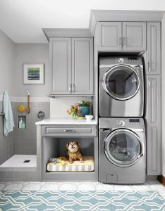 Ducha para perros lavadoras  secadoras almacenaje lugar mascotas also laundry room for vertical spaces easy and rh pinterest