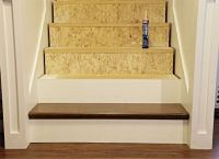 Stair re-do using false treads from Home Depot http://www ...