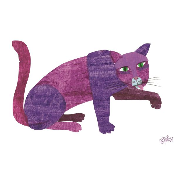 Brown Bear Purple Cat Framed Character Art Eric Carle