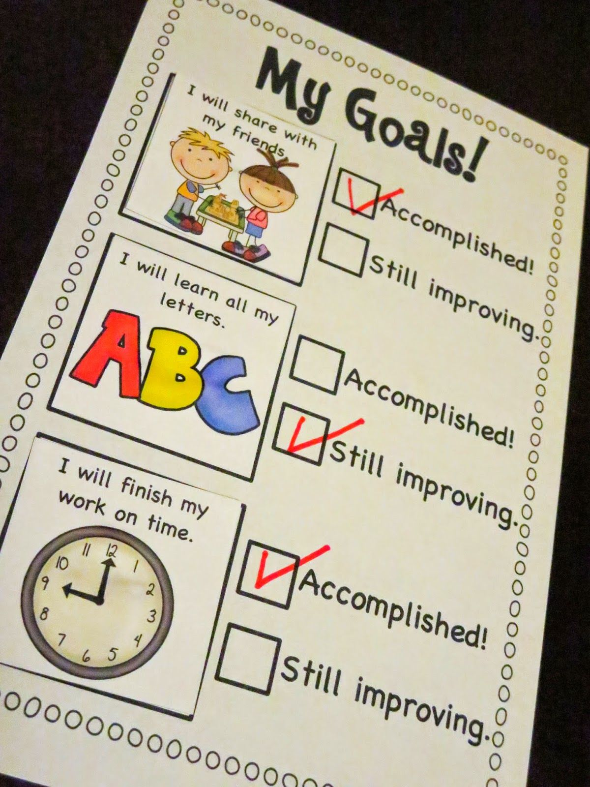 Goal Setting Checklist Freebie Mrs Ricca S Kindergarten