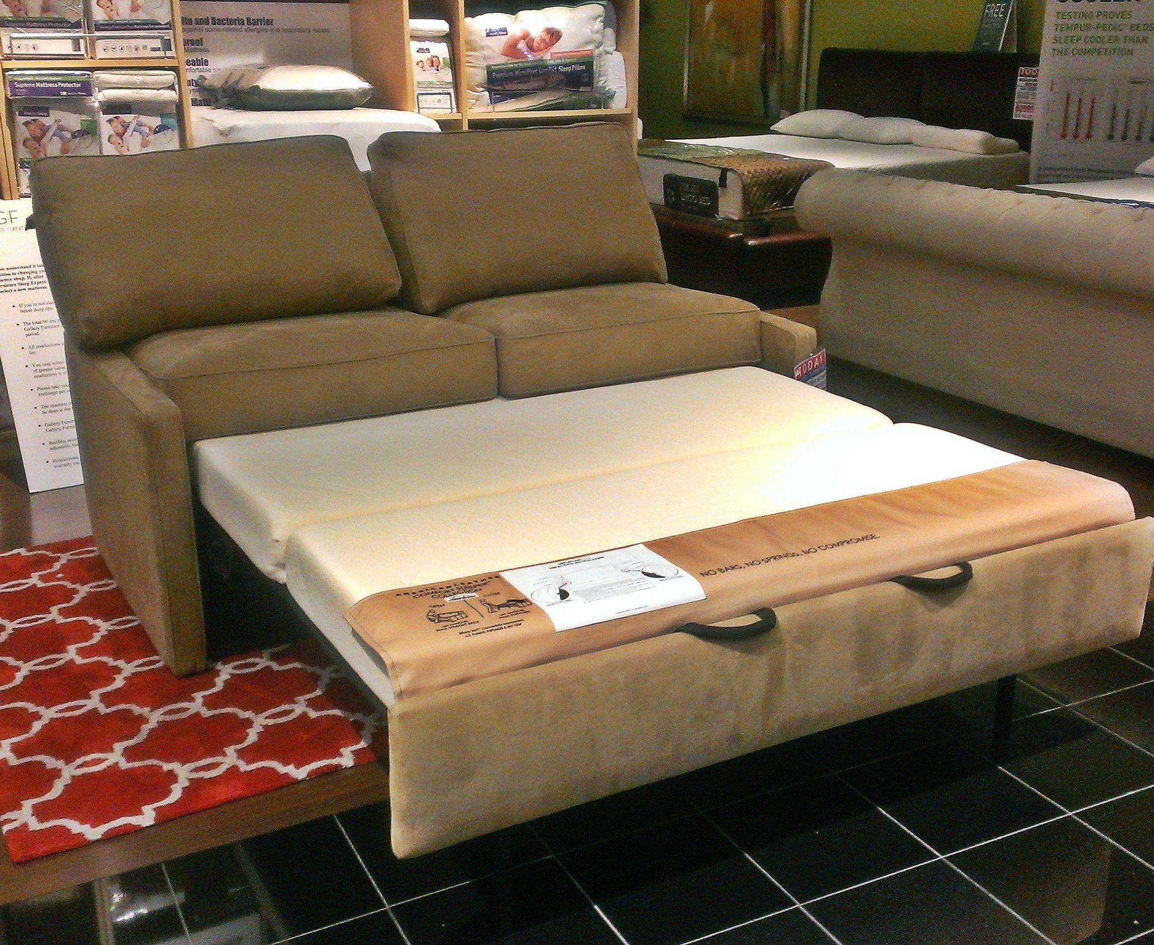 tempurpedic sleeper sofas charcoal sofa living room marvelous memory foam bed