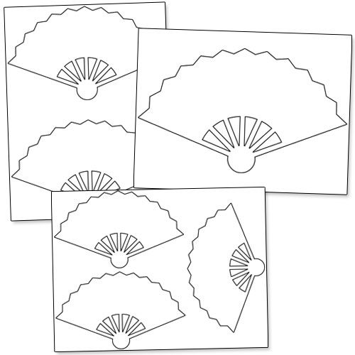 Printable Hand Fan Template from PrintableTreats.com