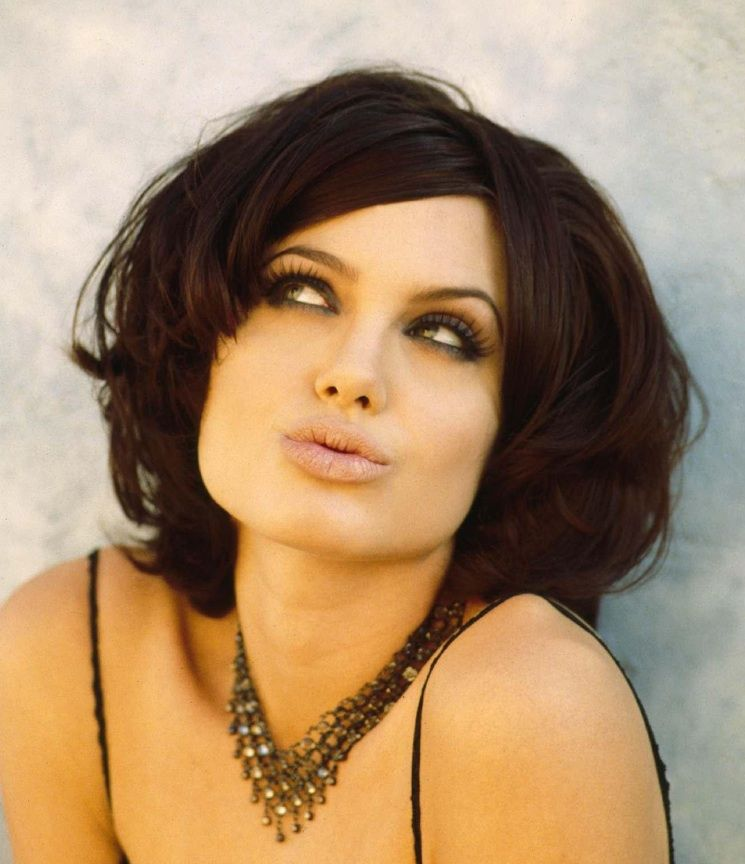 Women's Popular Hairstyles Angelina Jolie Dark Chocolate Brown