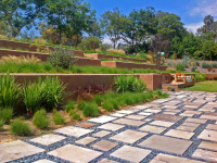 A weed-filled quarter acre front yard was modernized into ...