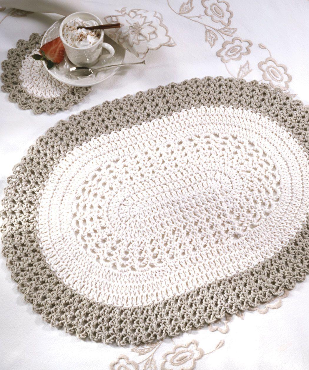 diagram crochet coaster toro zero turn belt oval placemat and coasters free beginner pattern
