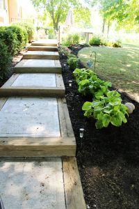 DIY Backyard Pathway Ideas | Cement steps, Concrete steps ...