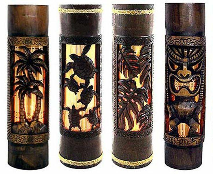 HAWAIIAN LAMP TIKI BAR PALM TREE HOME
