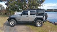AEV Roof Rack on JK Jeep Wrangler. Adds no more than 4 ...