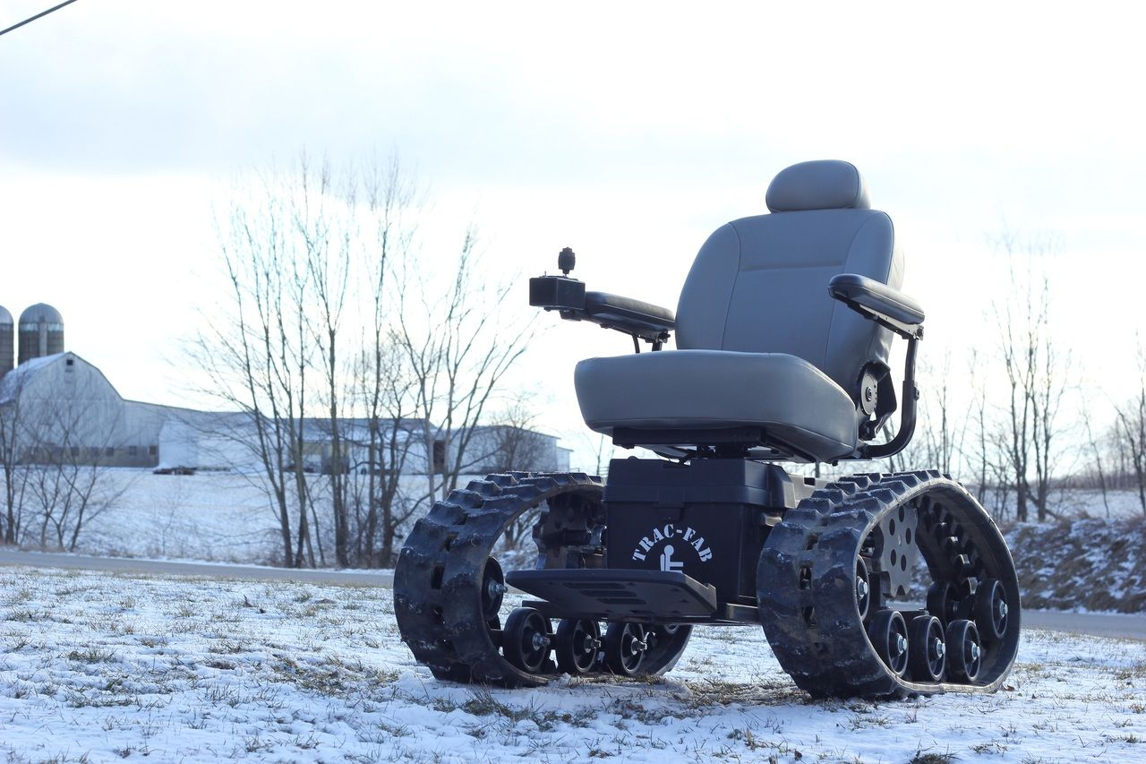 power chair with tracks classic covers bournemouth all terrain wheelchairs in snow off road