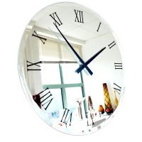 Extra large big bevelled roman mirror wall clock, buy ...