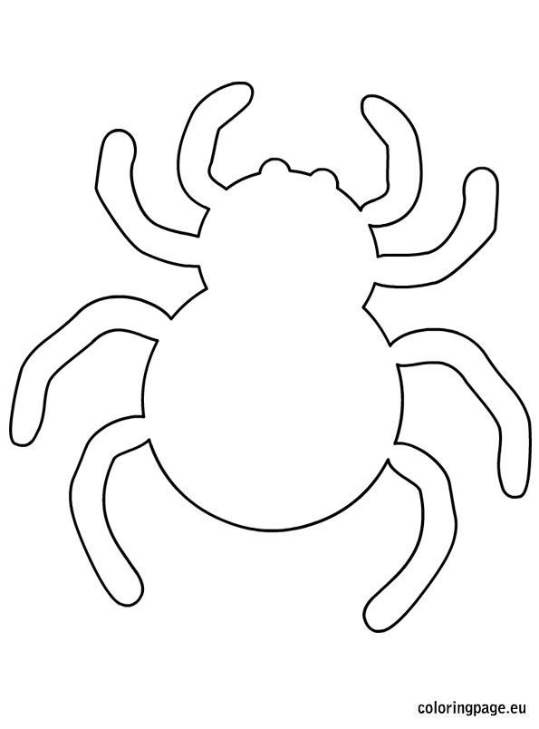 Spider halloween template Fun! We could do several cute