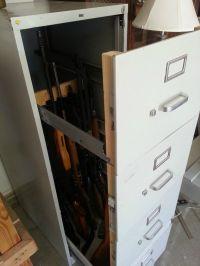File Cabinet turned Gun Cabinet. It's a diversion safe ...