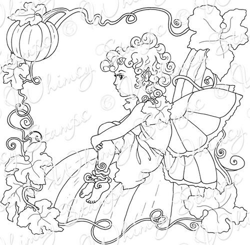 OCT TOE BUR FAIRY rubber stamps by Whimsy Stamps